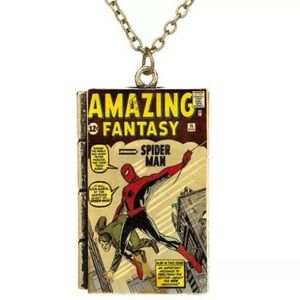 Other - Spider-Man comic book necklace